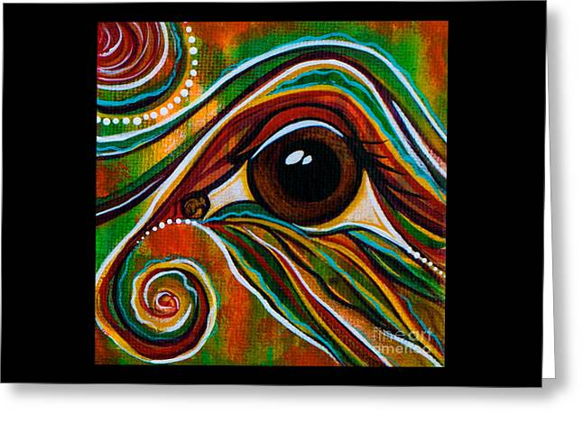 Inner Strength Spirit Eye Greeting Card