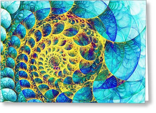 Inner Structure Greeting Card by Anastasiya Malakhova