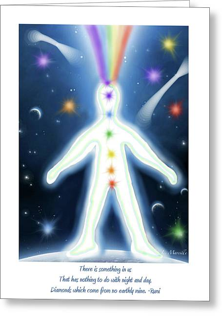 Inner Universe  Greeting Card by Linda Marcille