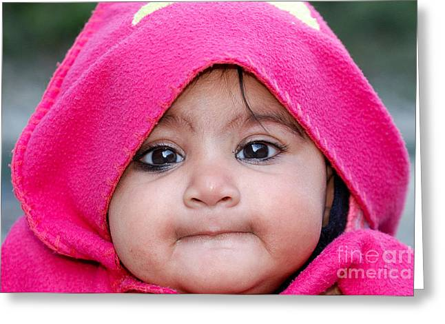 Innocence Greeting Card by Fotosas Photography