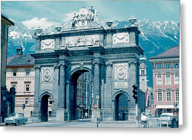 Innsbruck Austria 1962 Greeting Card by Cumberland Warden