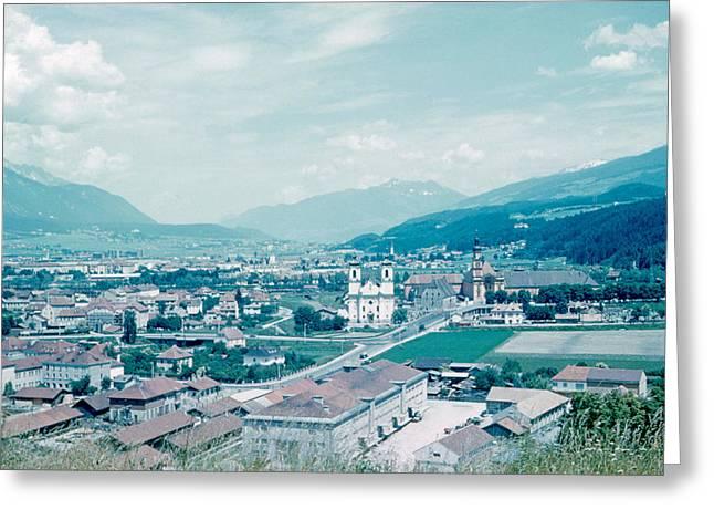Innsbruck Austria 4 1962 Greeting Card by Cumberland Warden