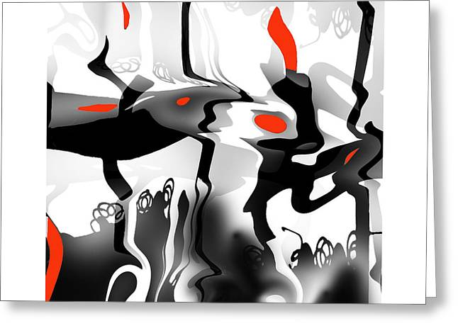 Greeting Card featuring the digital art Insect  T  Sides by Bob Salo