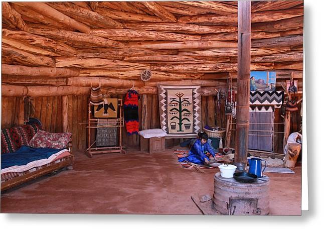 Inside A Navajo Home Greeting Card