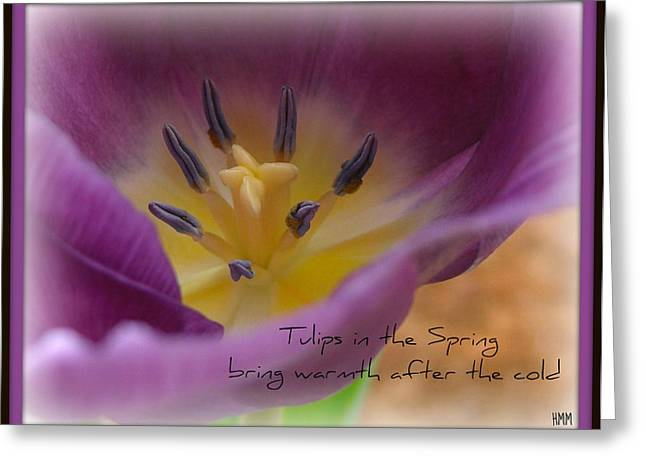 Greeting Card featuring the photograph Inside A Tulip by Heidi Manly