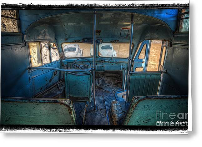 Inside Bus 1 Greeting Card by Mauro Celotti