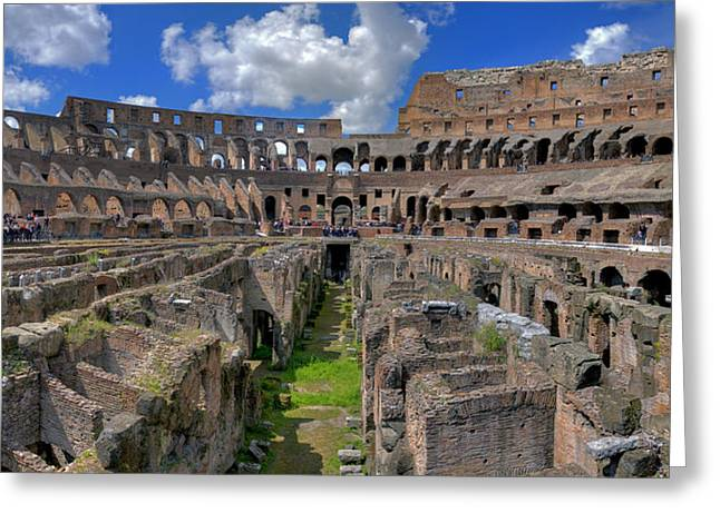 Inside Colosseum Greeting Card by Patrick Jacquet