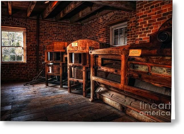 Inside Kerr Mill I - North Carolina Greeting Card by Dan Carmichael