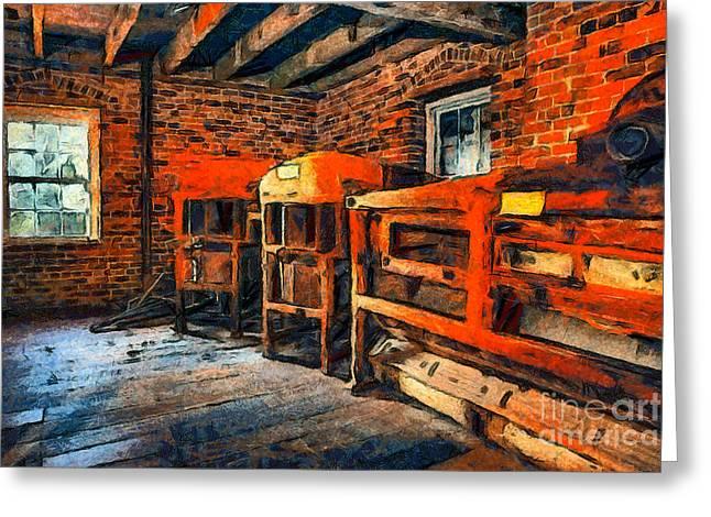 Inside Kerr Mill II - North Carolina Greeting Card by Dan Carmichael
