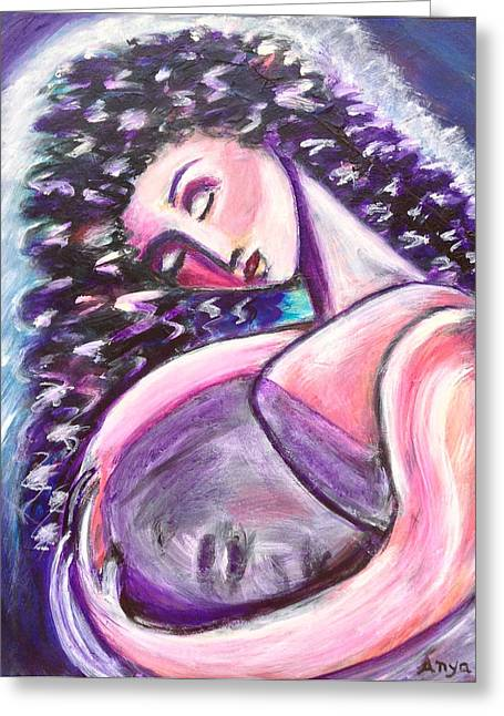 Greeting Card featuring the painting Inside Me by Anya Heller