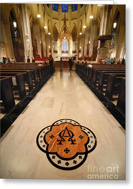 Inside St Patricks Cathedral New York City Greeting Card