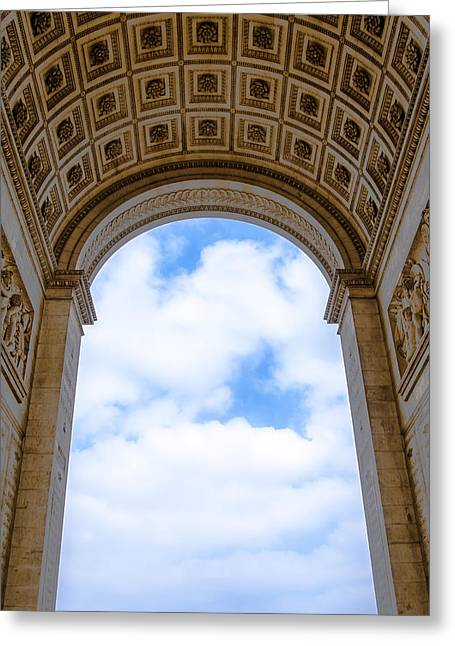 Inside The Arch Of Triumph Greeting Card