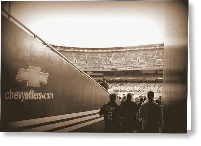 Greeting Card featuring the photograph Inside The Cathedral Of Baseball by Aurelio Zucco