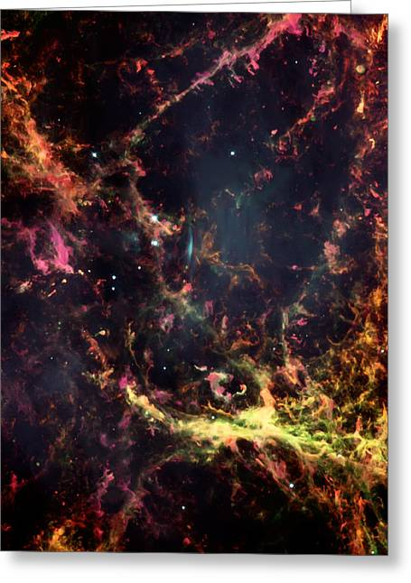 Inside The Crab Nebula  Greeting Card by Jennifer Rondinelli Reilly - Fine Art Photography