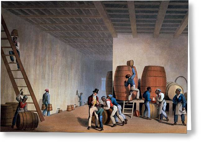 Inside The Distillery, From Ten Views Greeting Card