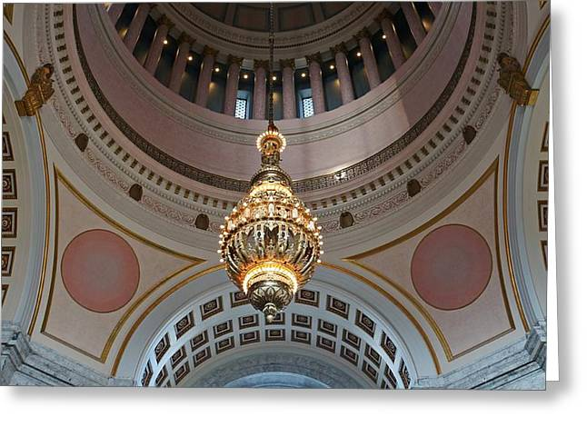 Inside The Dome Greeting Card by Patricia Strand