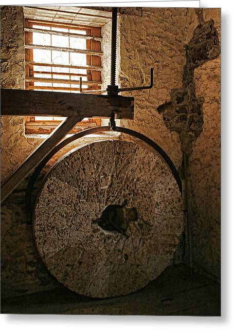 Inside The Gristmill Greeting Card