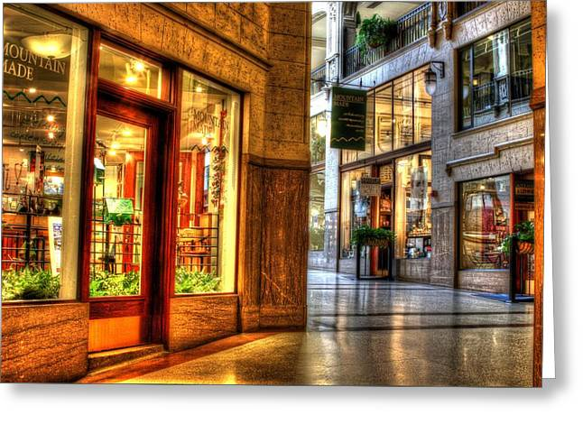 Inside The Grove Arcade Greeting Card