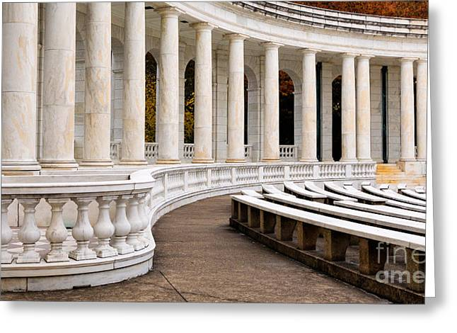 Inside The Memorial Amphitheater Greeting Card by Jerry Fornarotto