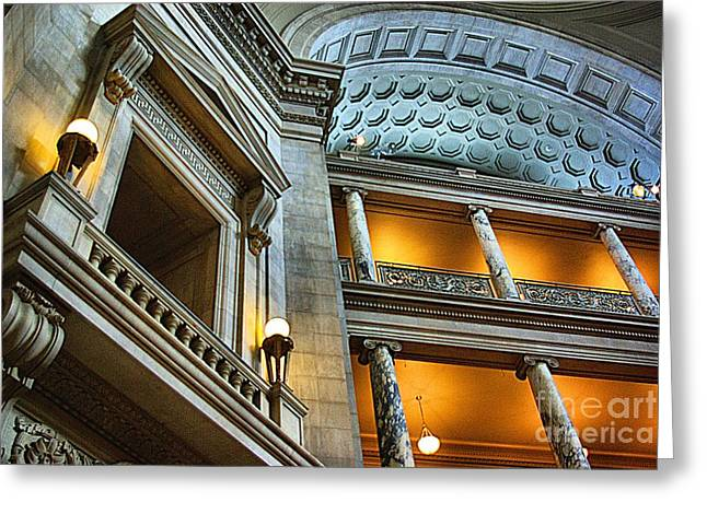 Inside The Natural History Museum  Greeting Card by John S