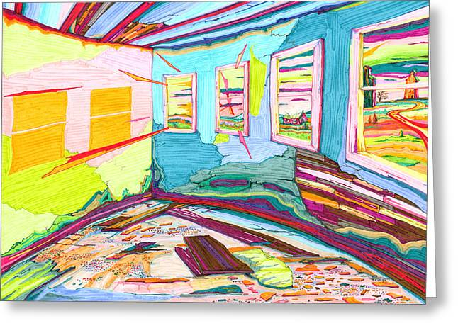 Inside The Old School House Greeting Card by Scott Kirby