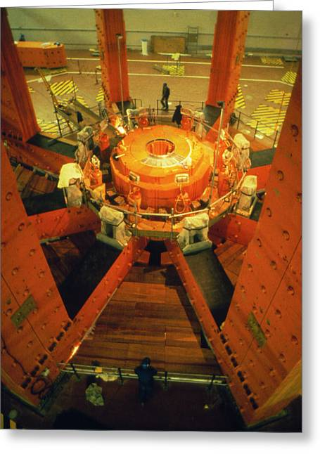 Inside The Transformer (will Hold Torus At Jet) Greeting Card
