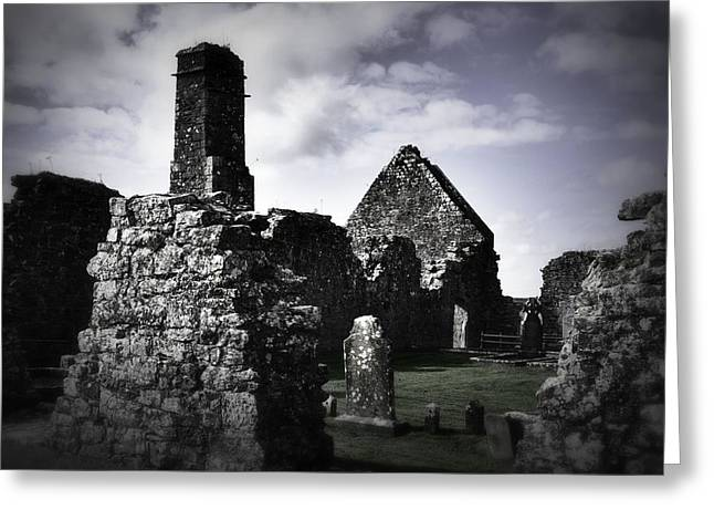 Inside The Walls At Clare Abbey II Greeting Card