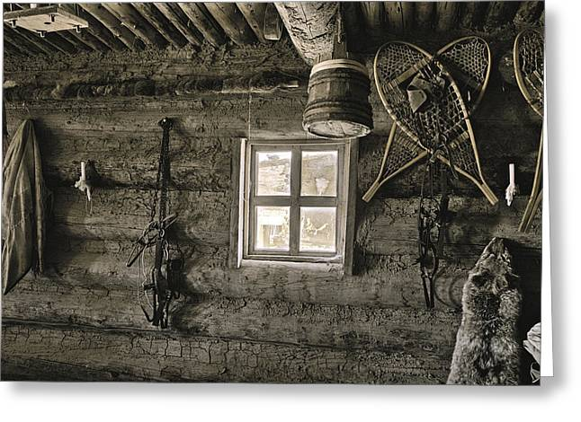 Inside Trading Post Montrose Co Greeting Card by James Steele