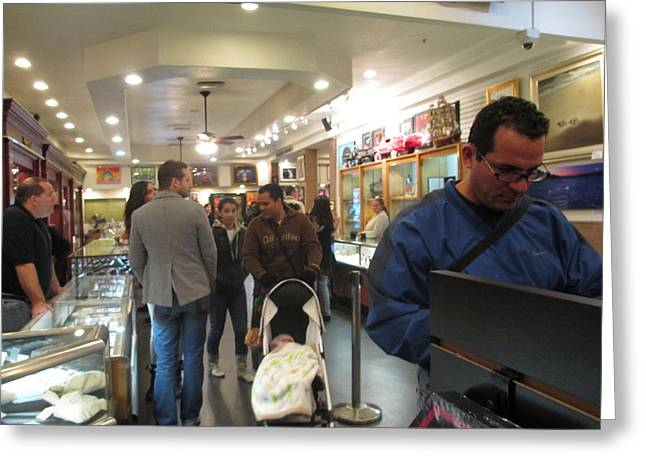Inside World Famous Pawn Shop Greeting Card by Kay Novy