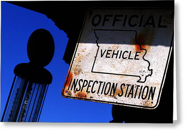 Inspection Station Greeting Card