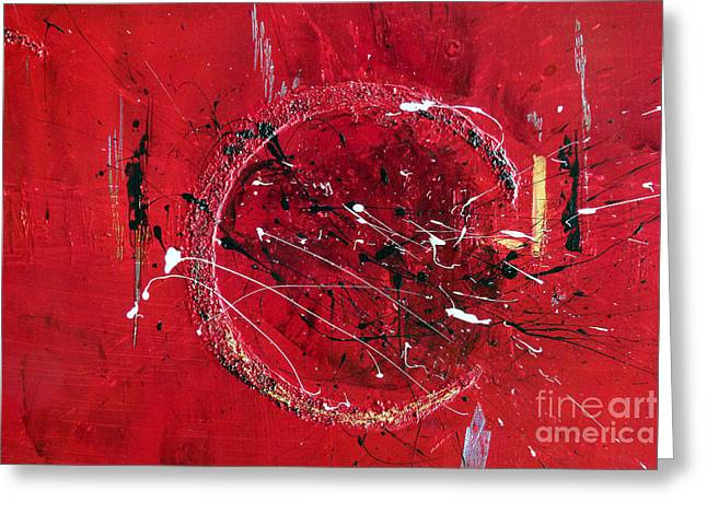Inspiration- Abstract Painting Greeting Card by Ismeta Gruenwald