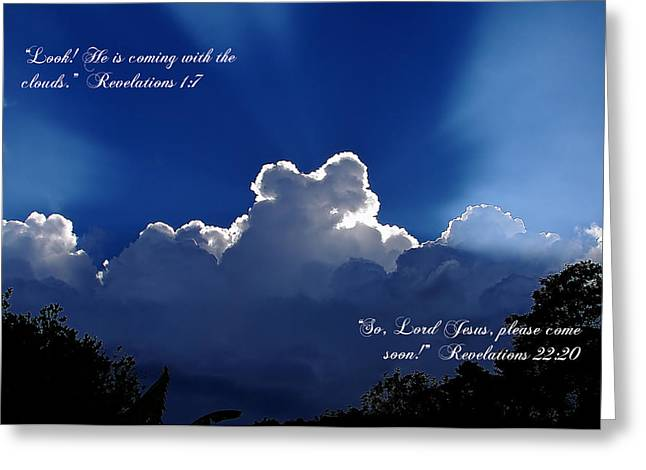 Inspirational Clouds Greeting Card