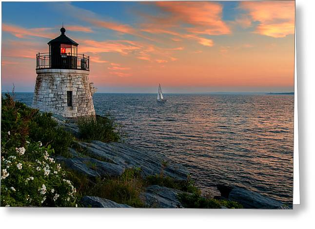 Inspirational Seascape - Newport Rhode Island Greeting Card by Thomas Schoeller
