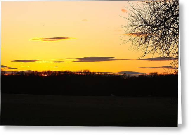 Greeting Card featuring the photograph Inspirational Sunset  by Ann Murphy