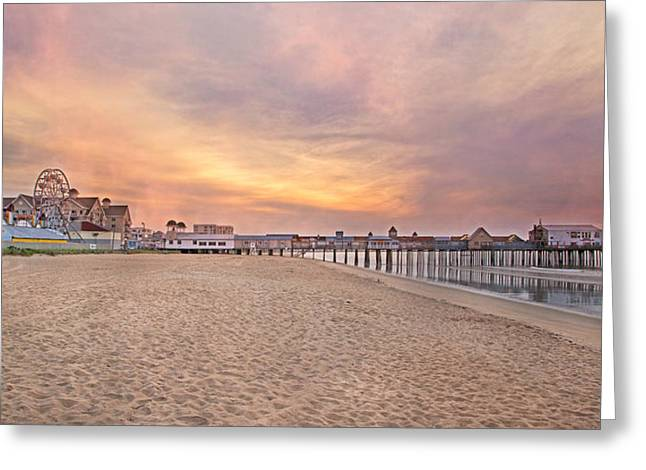 Inspirational Theater Old Orchard Beach  Greeting Card by Betsy Knapp