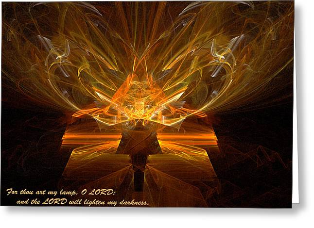Greeting Card featuring the digital art Inspirations Light by R Thomas Brass