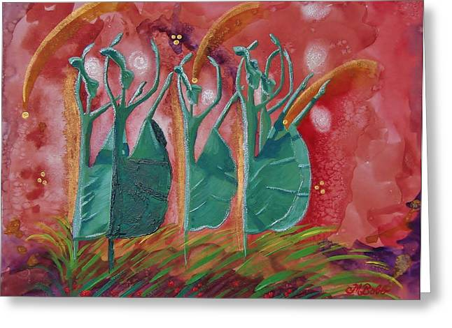 Inspired Dance Greeting Card by Margaret Bobb