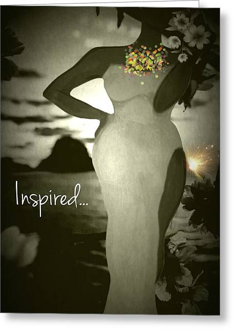 Inspired Greeting Card by Romaine Head