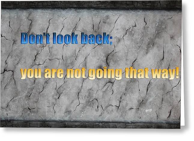 Inspiring Words For You Greeting Card by Georgeta  Blanaru