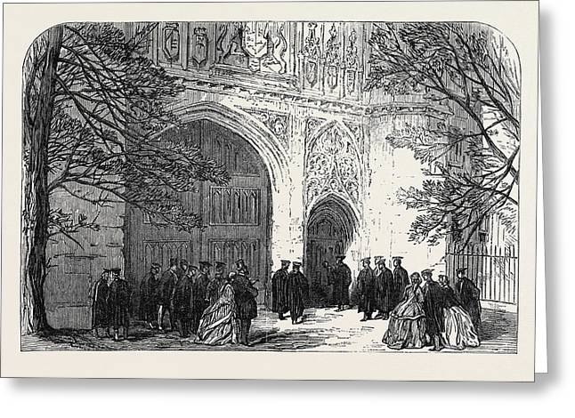 Installation Of The New Master Of Trinity College Cambridge Greeting Card
