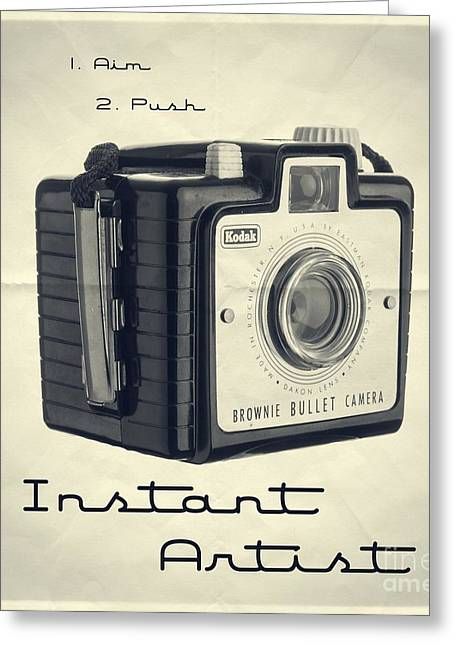 Instant Artist Greeting Card by Edward Fielding