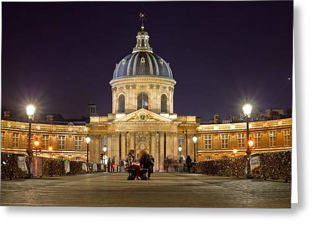 Ile De France Greeting Cards - Institute De France From Pont Des Arts Greeting Card by Panoramic Images