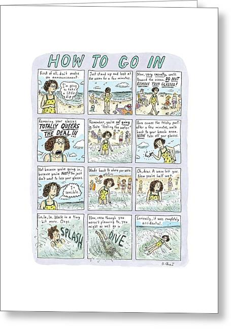 Instructions For Getting Into The Ocean Greeting Card