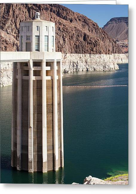 Intake Towers For The Hydro Plant Greeting Card