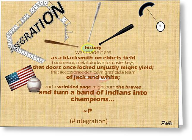 Integration Greeting Card by Pablo