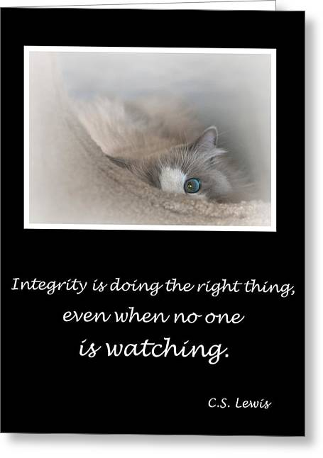 Integrity Greeting Card by David and Carol Kelly