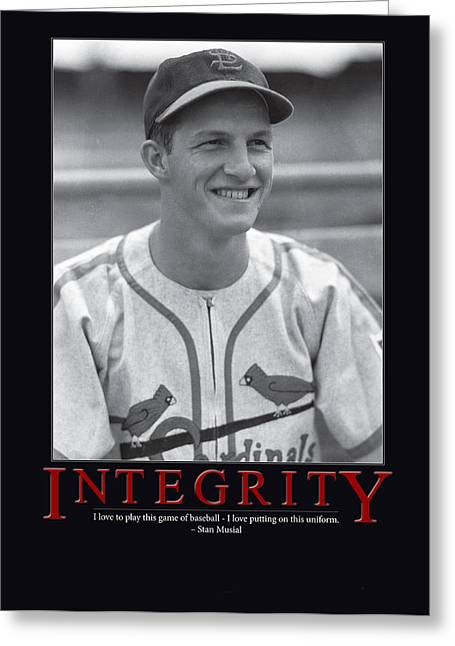 Integrity Stan Musial Greeting Card by Retro Images Archive