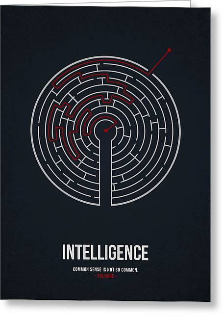 Intelligence Greeting Card by Aged Pixel