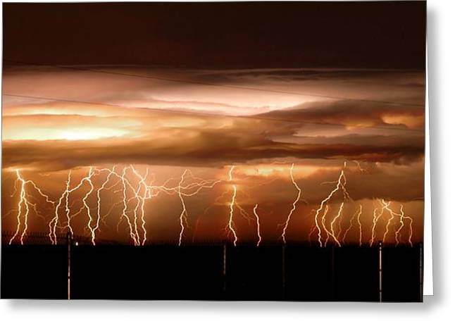 Intense Electrical Storm Greeting Card