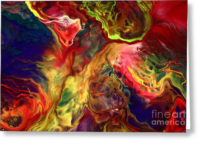 Intense Emotions Contemporary Abstract Greeting Card